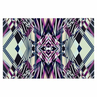 Sweeping Line Pattern I-E4B Diamond Decorative Doormat Color: Purple
