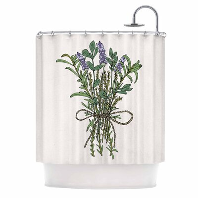 Herbal Bunch of Love Illustration Shower Curtain