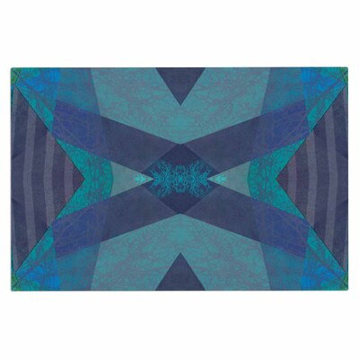 Turquoise Blue Pattern - 19A Doormat
