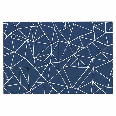 Abstraction Outline Navy Doormat