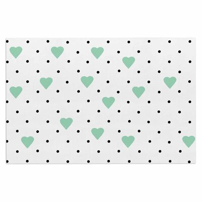 Pin Point Polka Dot Mint Doormat