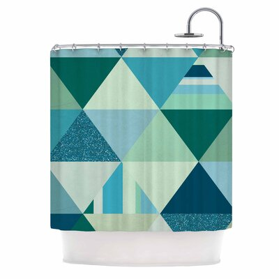 The Triangle Blues Shower Curtain
