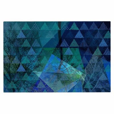 Triangles Blue Melange Doormat