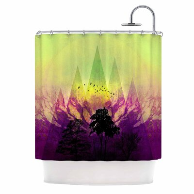 Trees Under Magic Mountain Nature Shower Curtain
