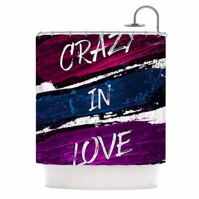 Crazy in Love Painting Shower Curtain