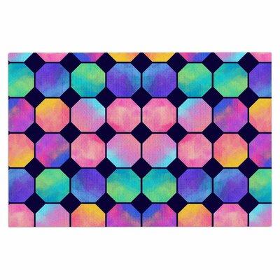 Colorful Watercolor Octagons Doormat