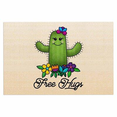 Free Hugs Cactus Doormat