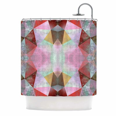 Polygon Diamond I Mixed Media Shower Curtain