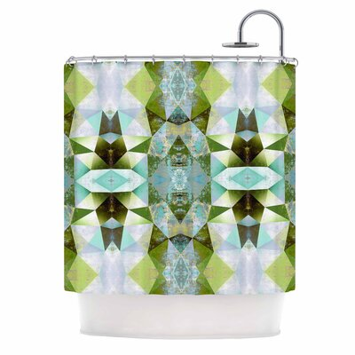 Polygon Diamond III Vector Shower Curtain