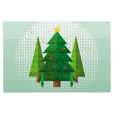 Geometric Christmas Tree Doormat