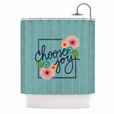 Choose Joy (Floral) Digital Shower Curtain