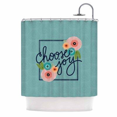 Choose Joy (Floral) Digital Shower Curtain
