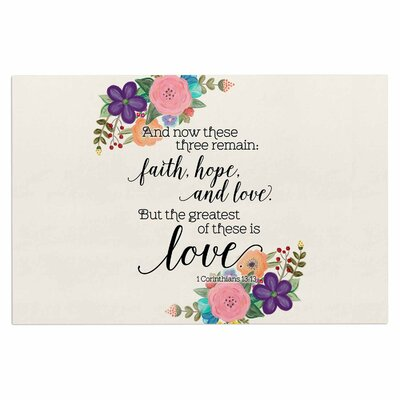 Faith, Hope and Love Doormat