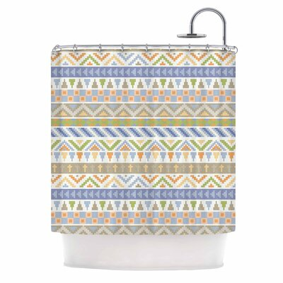 Happy Tribal Pattern Shower Curtain
