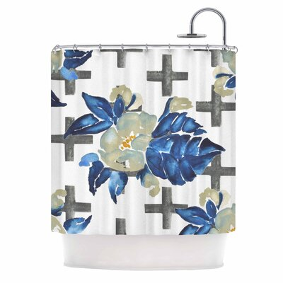 Plus Sign Floral Shower Curtain