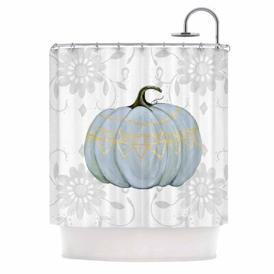 Boho Pumpkin Illustration Shower Curtain