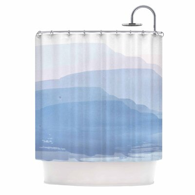Layered Mountains Shower Curtain