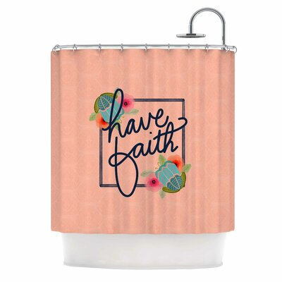 Have Faith Typography Shower Curtain
