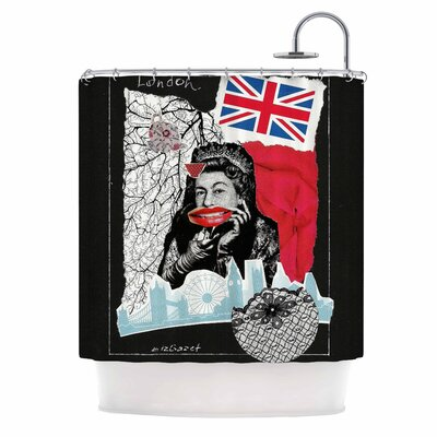 London Illustration Shower Curtain