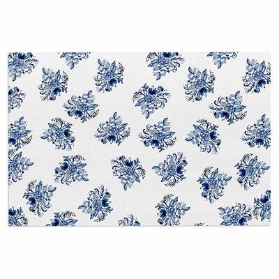 Blue Garden Flowers Doormat