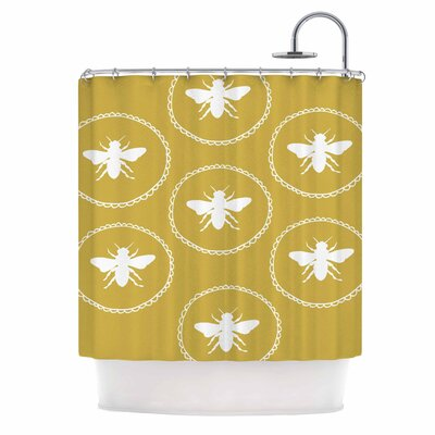 Busy As a Bee Maise Gold Nature Shower Curtain