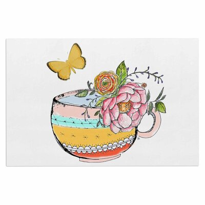 Tea Cup Vase Vintage Decorative Doormat