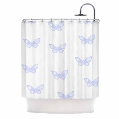 Many Lavender Butterflies Shower Curtain