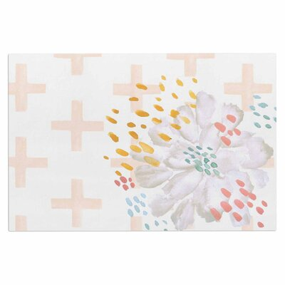 Bright and Pretty  Doormat Color: Coral/White/Pink