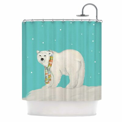 Chilly Snow Bear Shower Curtain