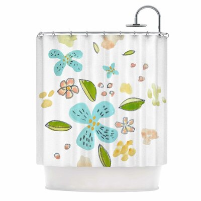 Happy Flower Dance Shower Curtain