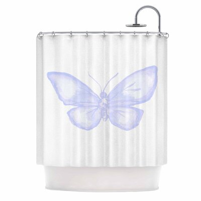 Lavender Butterfly Shower Curtain