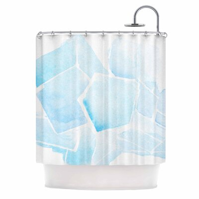 Blue Quartz Shower Curtain