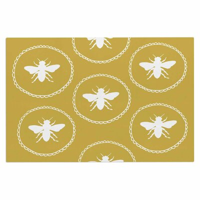 Busy as a Bee Doormat Color: White/Gold/Maize