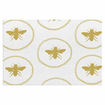 Busy as a Bee Doormat Color: White/Maize/Yellow