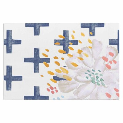 Bright and Pretty  Doormat Color: Navy Blue/White