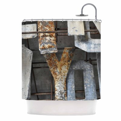 Patina Letters Shower Curtain