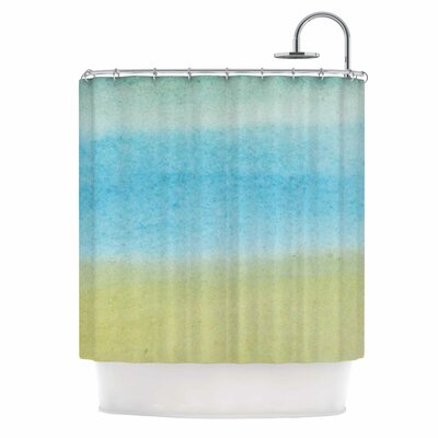 Watercolor Paint Stripe Shower Curtain