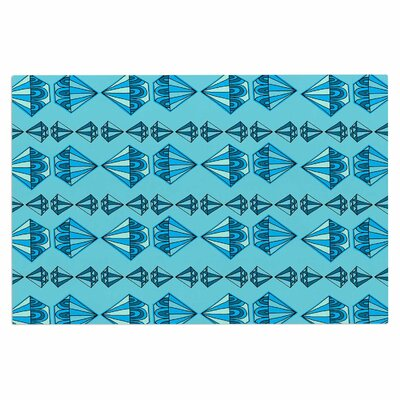 Blue Diamond Stripe Doormat