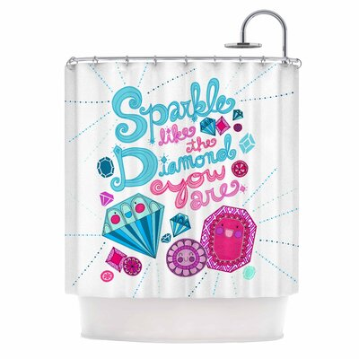 Sparkle Like the Diamond U R Diamond Shower Curtain