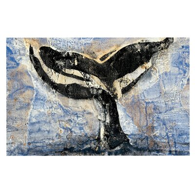 Whale Tail Coastal Painting Decorative Doormat