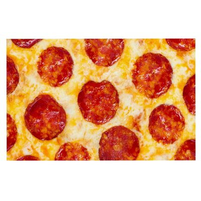 Pizza My Heart Pepperoni Cheese Decorative Doormat