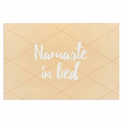 Namaste in Bed Doormat Color: Yellow/Tan/White