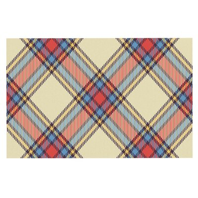 Sunday Brunch Plaid Tar Decorative Doormat