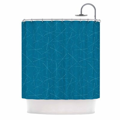 'Cool Sparkle Starbursts' Illustration Shower Curtain