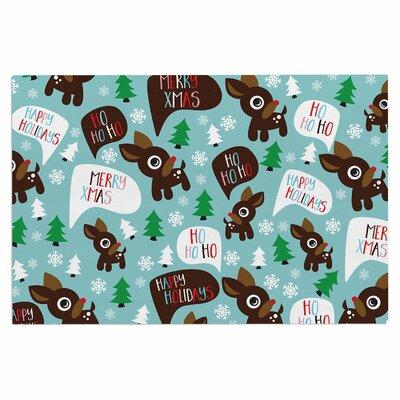 Cheerful Reindeer Doormat