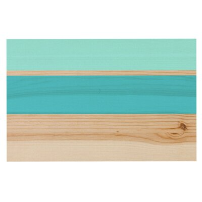 Spring Swatch - Blue Green Wood Decorative Doormat