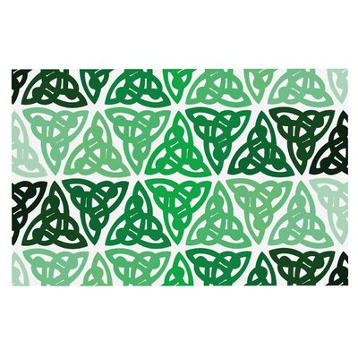 Celtic Knot Green Forest Decorative Doormat