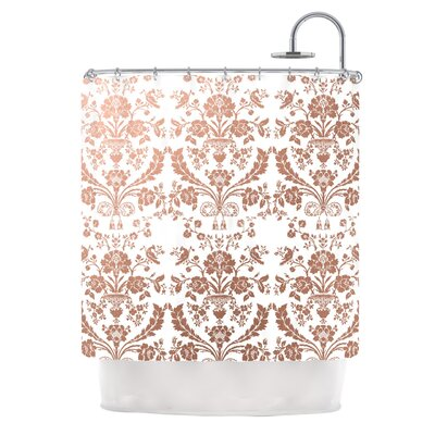 Baroque Shower Curtain Color: Rose Gold