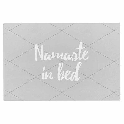 Namaste in Bed Doormat Color: Gray/White