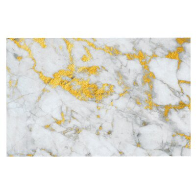 Gold Flake Marble Metal Decorative Doormat